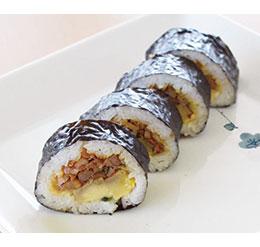 鶏照り親子の巻き寿司